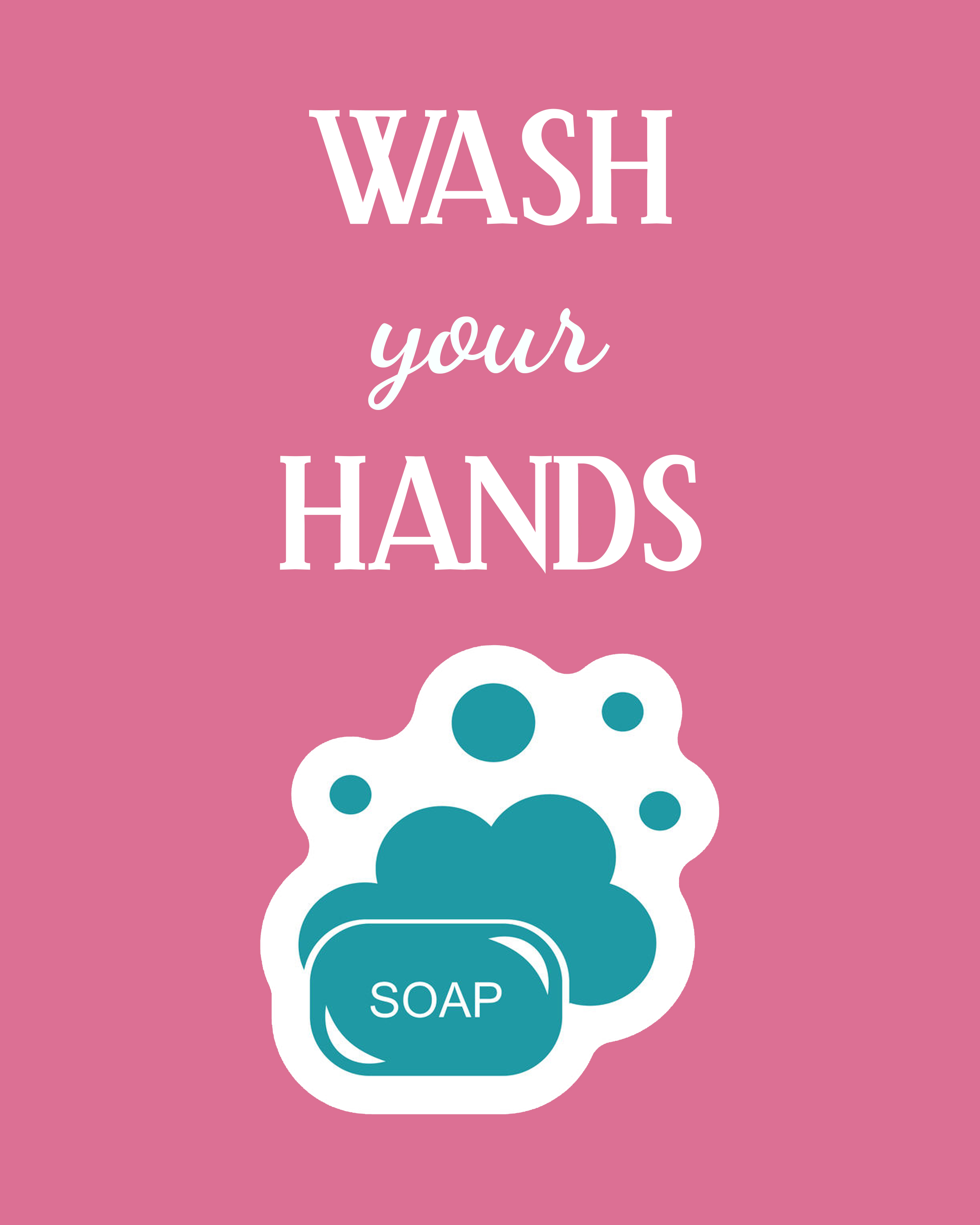 Kitchen Sink Etiquette: Download This Set Of 3 Free Printables For Your Kids Bathroom
