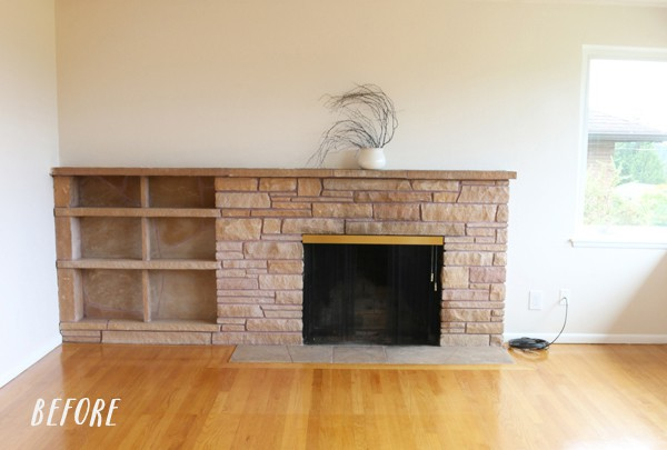 Transform a dated fireplace