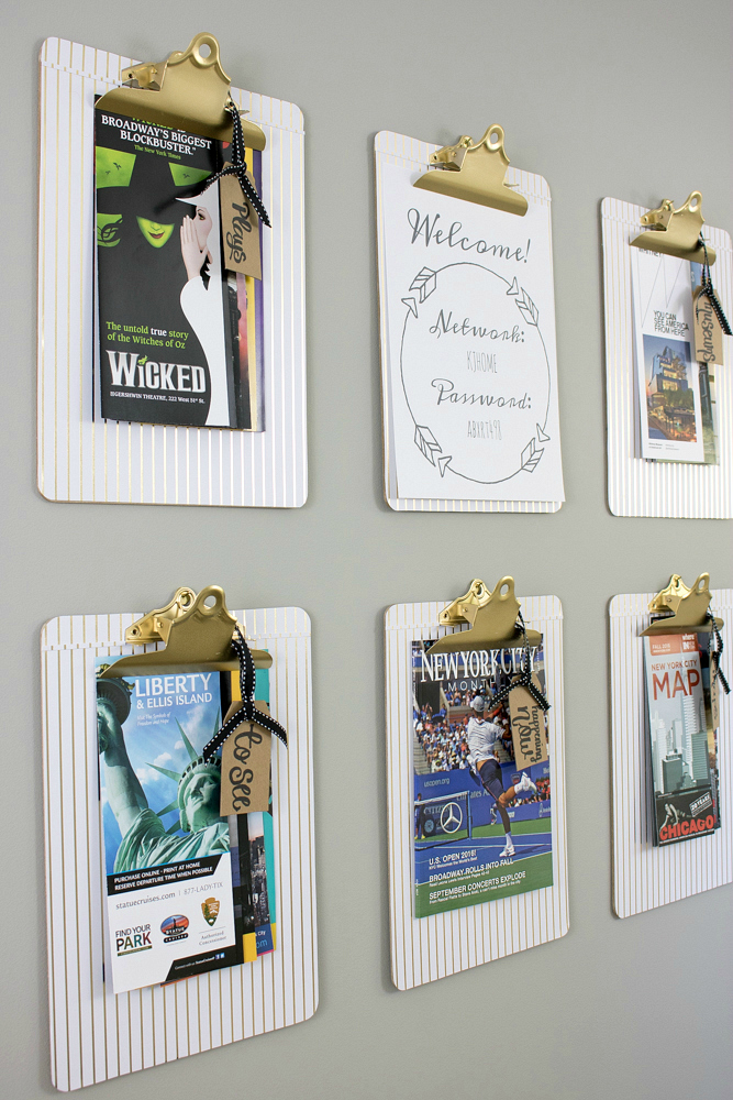 Guest Room Clipboard Wall Art