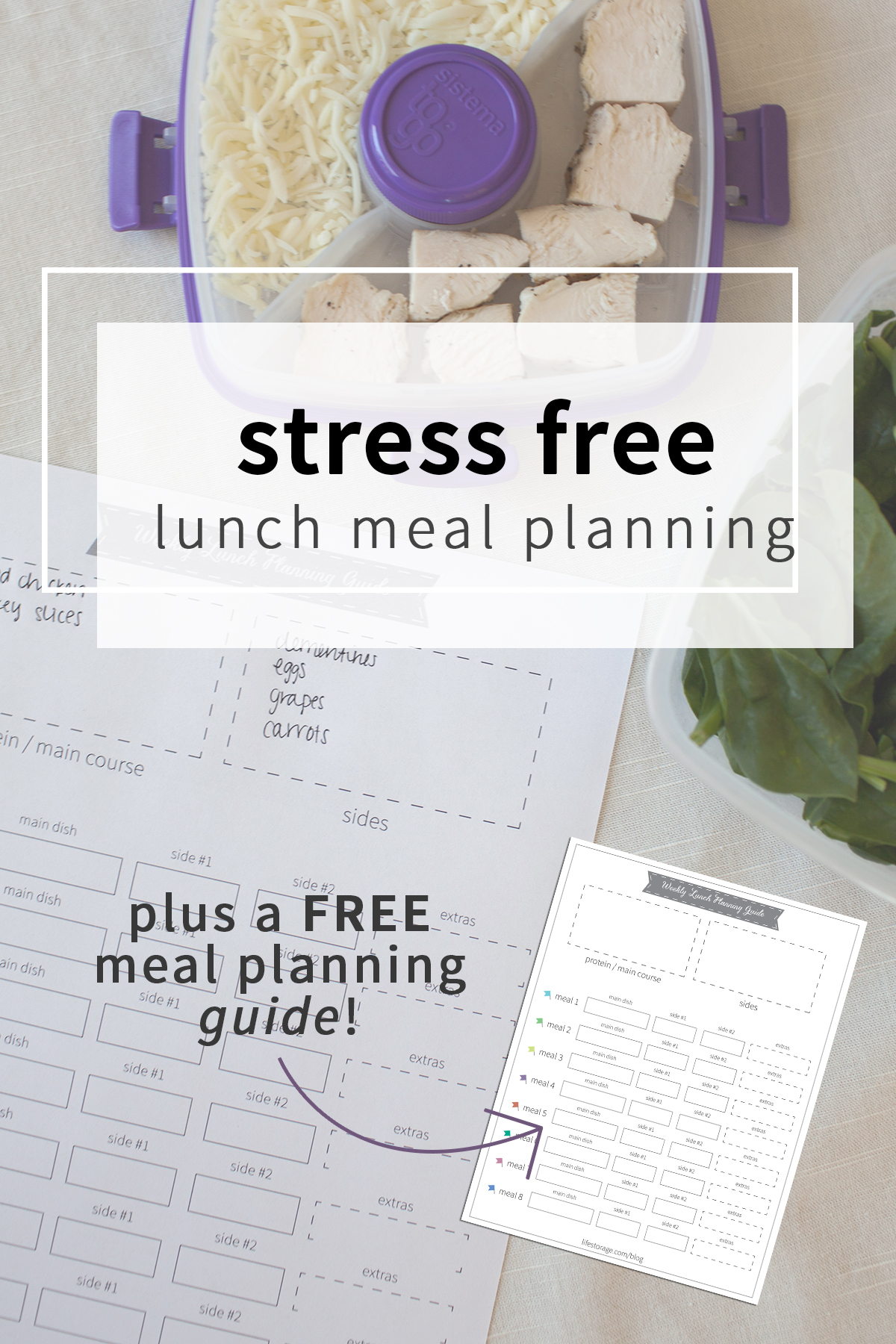 These easy lunch ideas make meal planning stress free! Plus get a meal planning guide to plan our lunches for the week.
