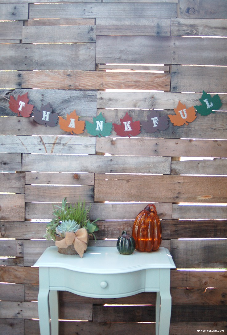Fall Decoration Ideas: Garland
