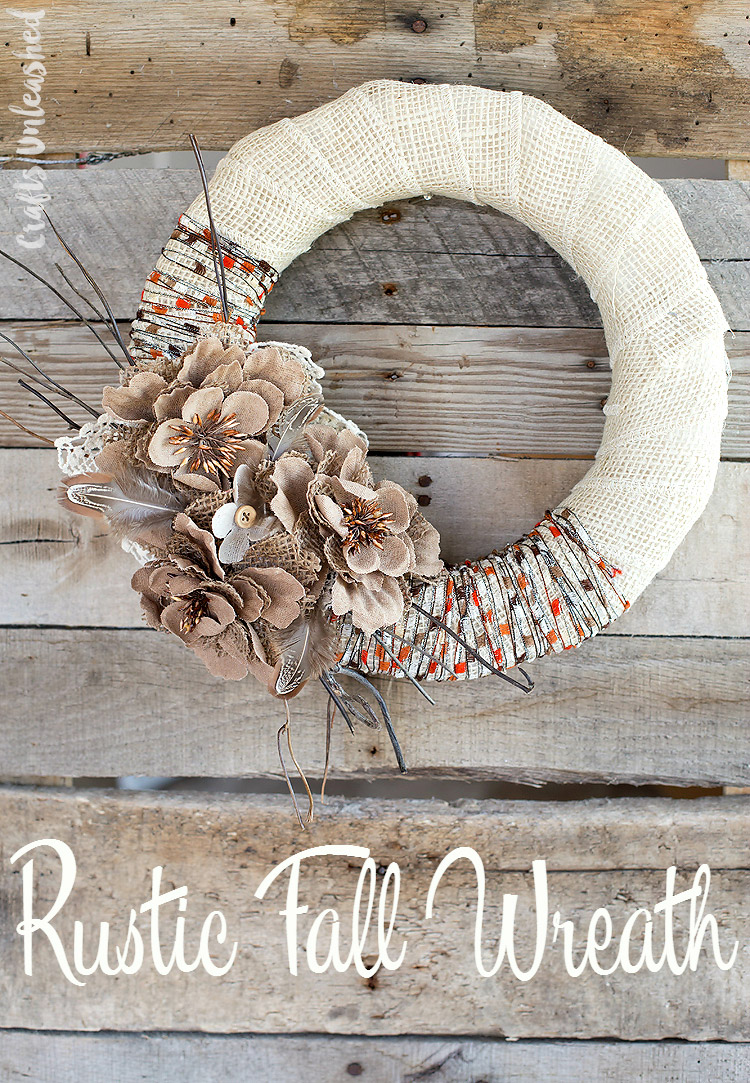Fall Decoration Ideas - Burlap Wreath