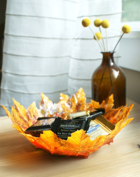 Fall Decoration Ideas - Autumn Leaf Bowl DIY Project