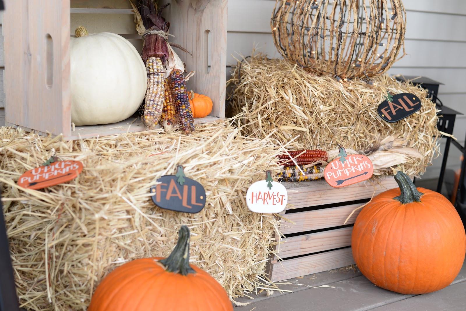 Classic Fall porch vignette