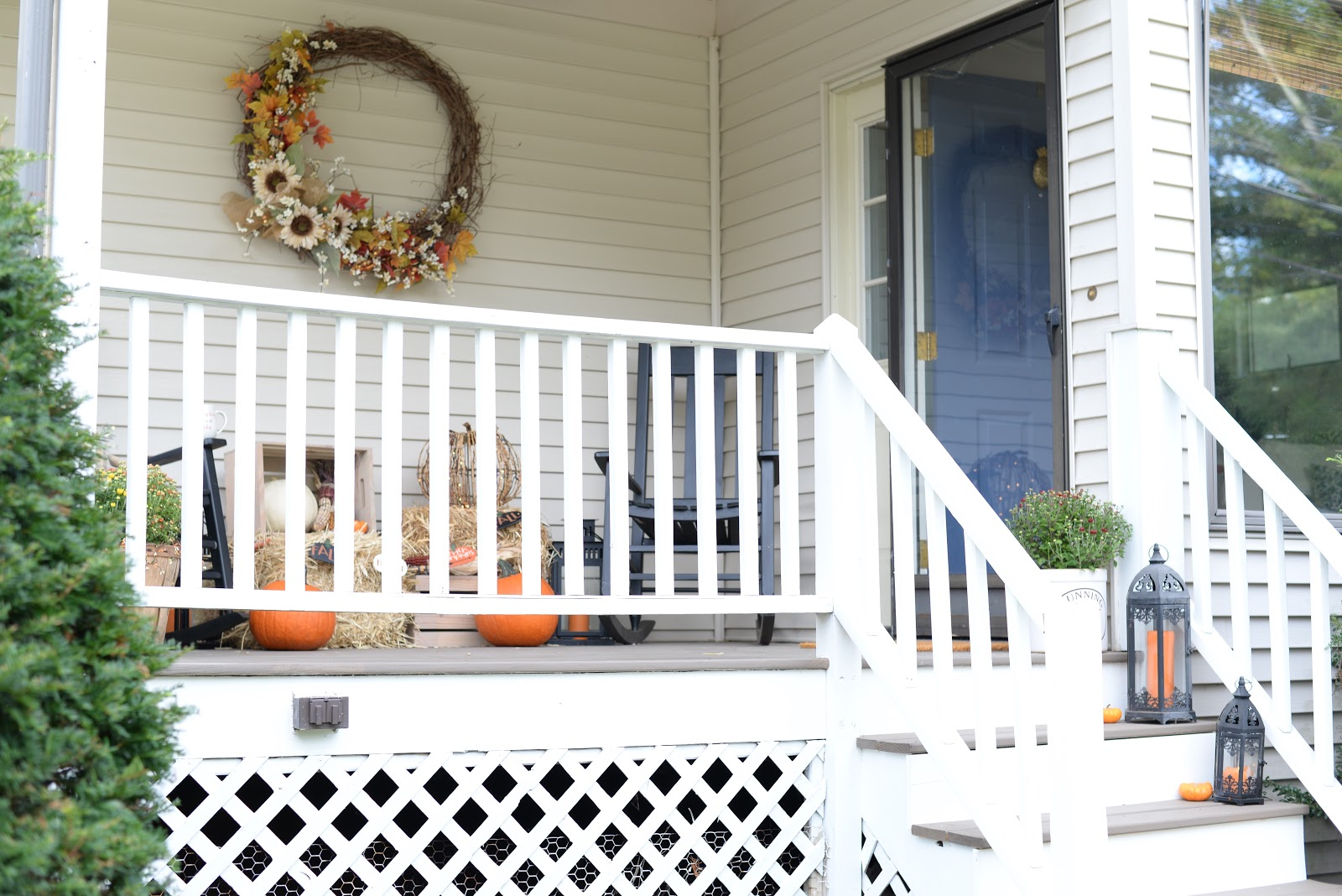 Add curb appeal with Fall decorations