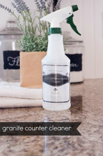 Homemade DIY cleaning solution for granite surfaces