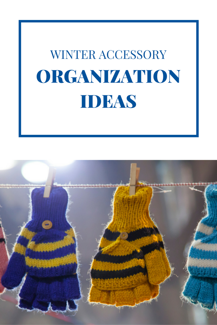how to organize scarves hats gloves pin