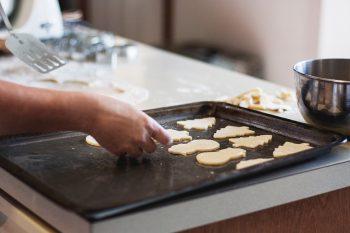 holiday baking christmas cookie sheet cutouts spatula