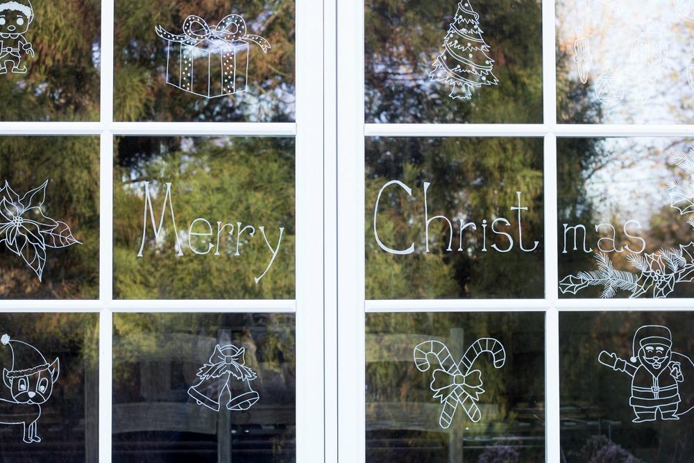 Chalk Window Decoration
