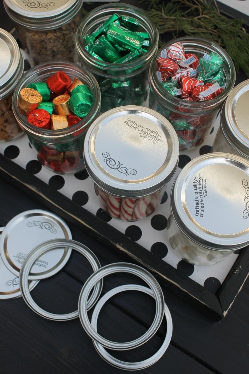 using mason jars at parties