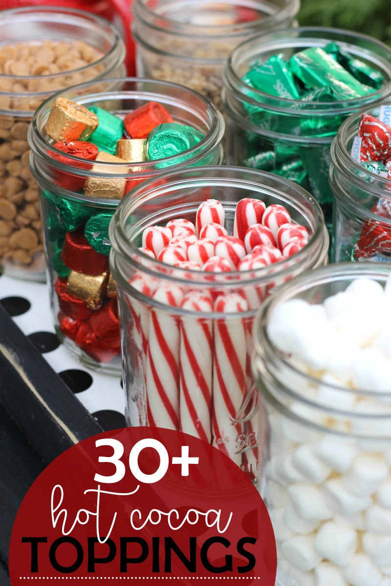 toppings ideas for a hot chocolate bar