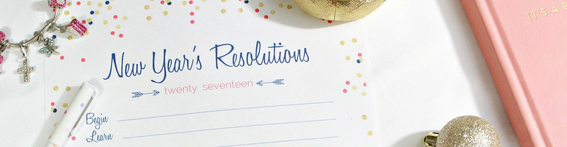 New Years Resolution Printable