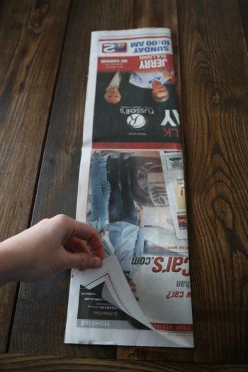 Newspaper Basket DIY, Step by Step instructions