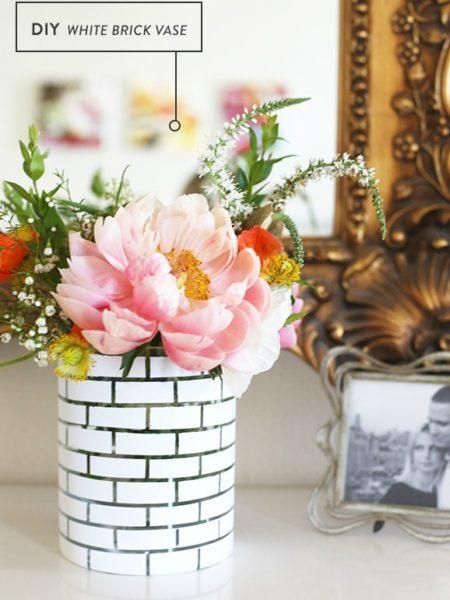 brick vase diy project