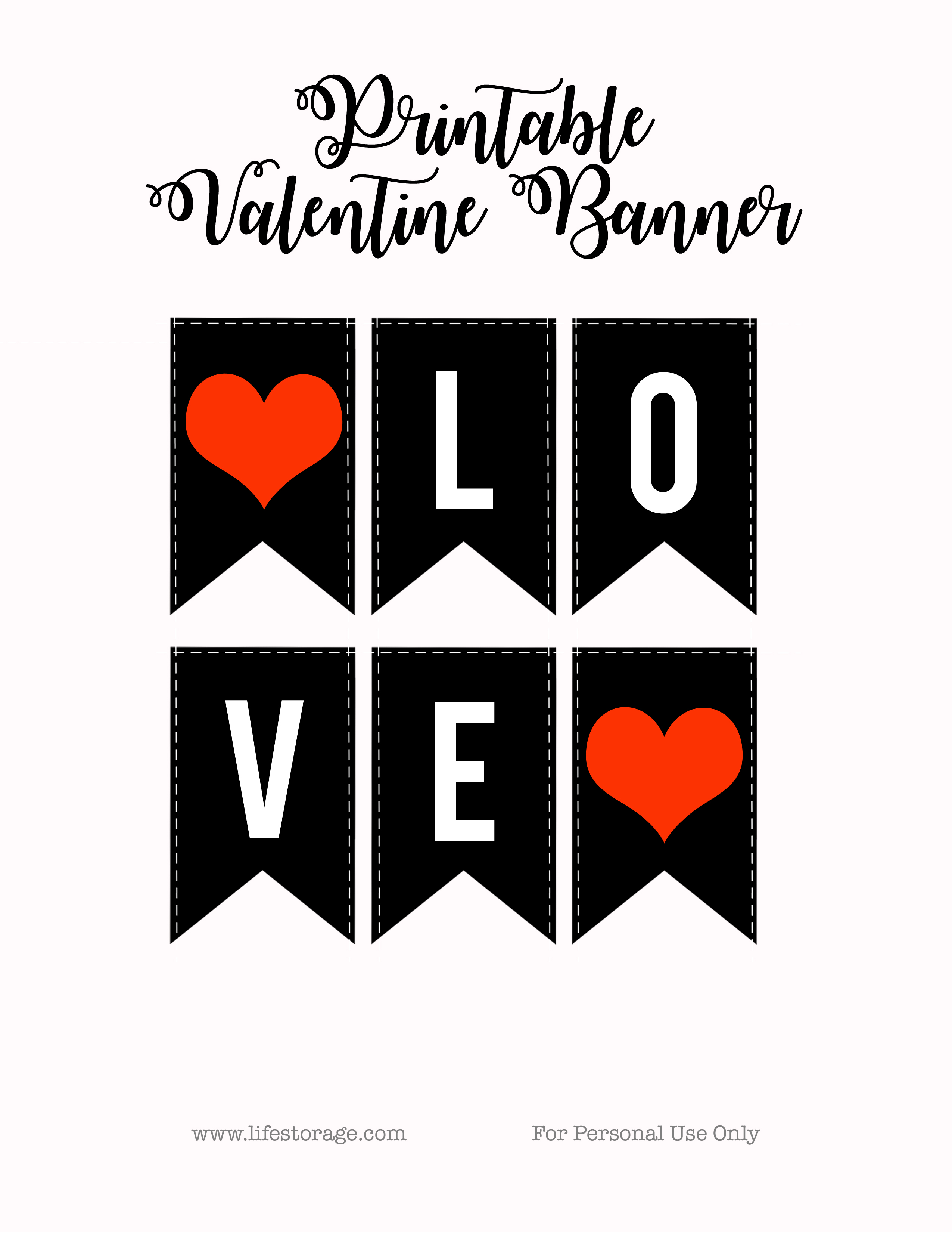 Mini Love Banner Printable