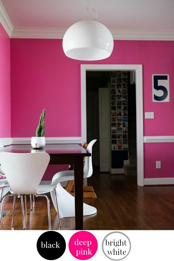 Stacey At The Design Addict Mom Chose A Vibrant Pink For Her Dining Room Walls Color Is Associated With High Energy And Compassion