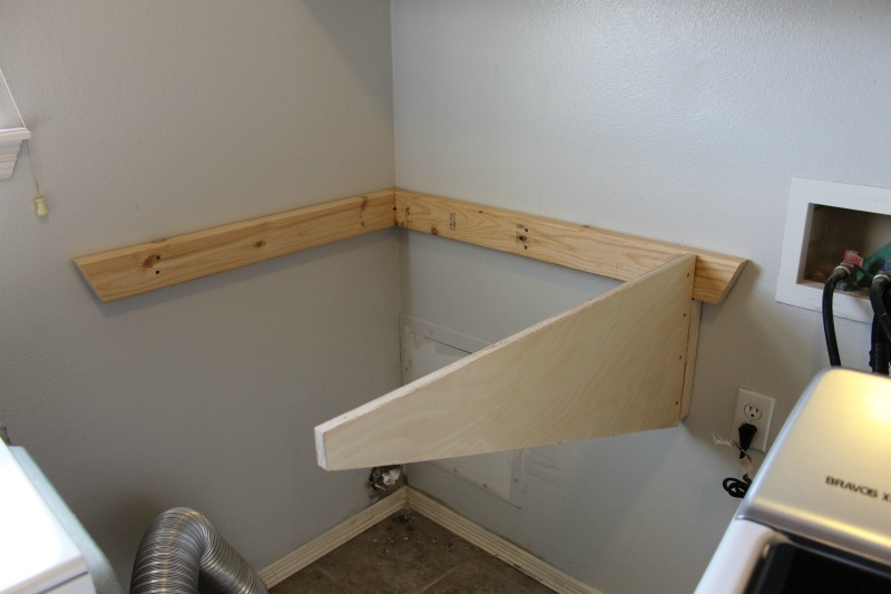 folding table in the laundry room