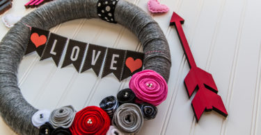 Valentines Day Flower Wreath Project