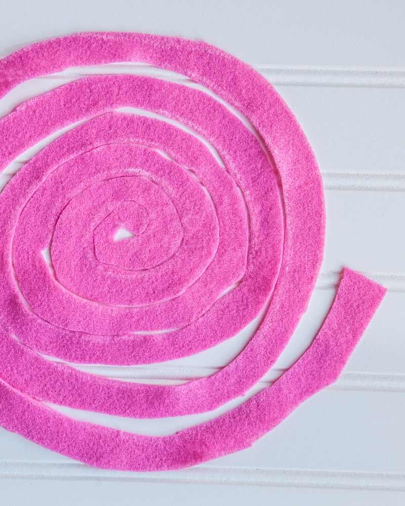 How to make a felt flower rose
