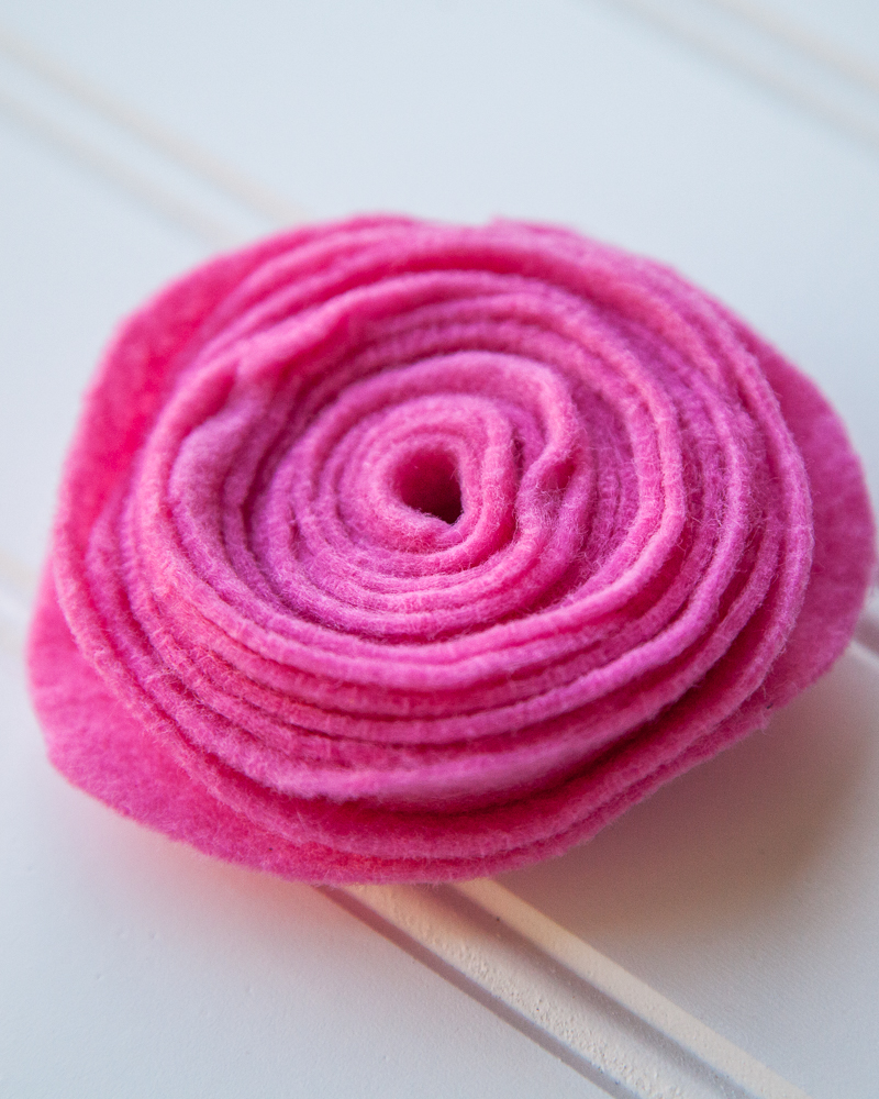 DIY Felt Rose How To