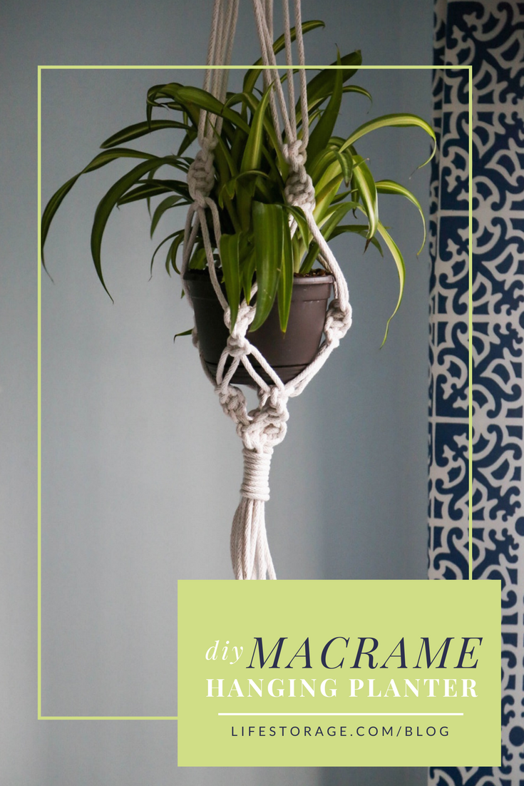 pinterest pin diy macrame hanging planter - Diy Hanging Planter