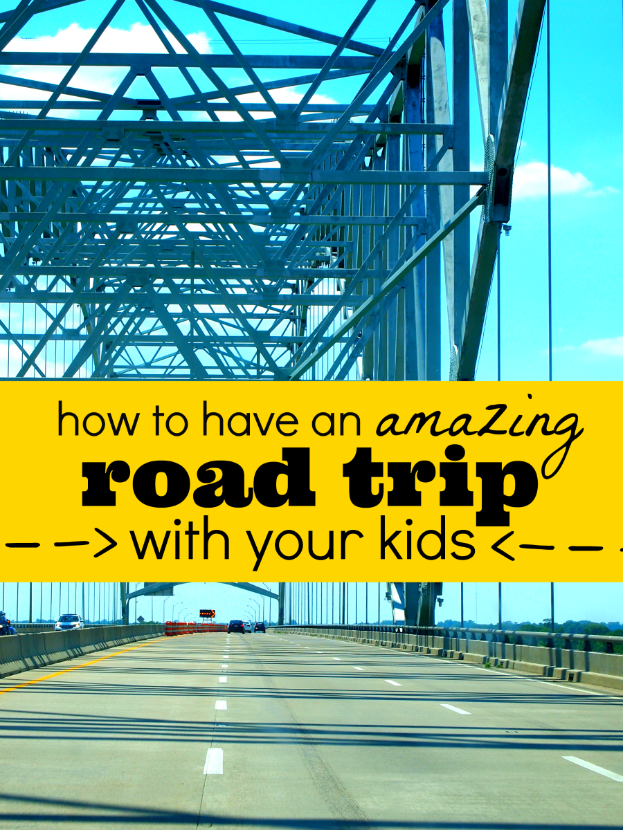 how to have an amazing road trip with kids pin