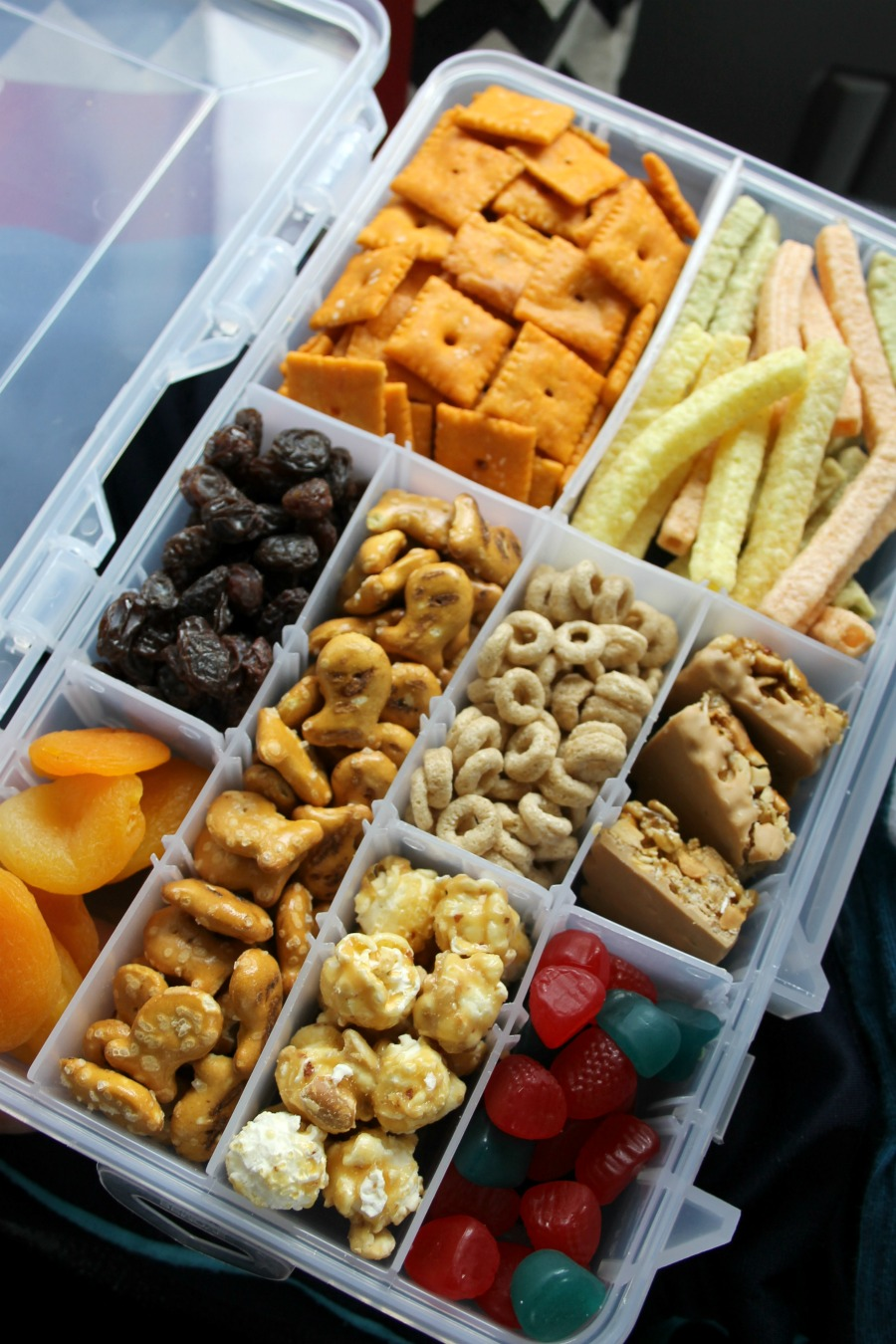 road trip snacks for kids tackle box hack