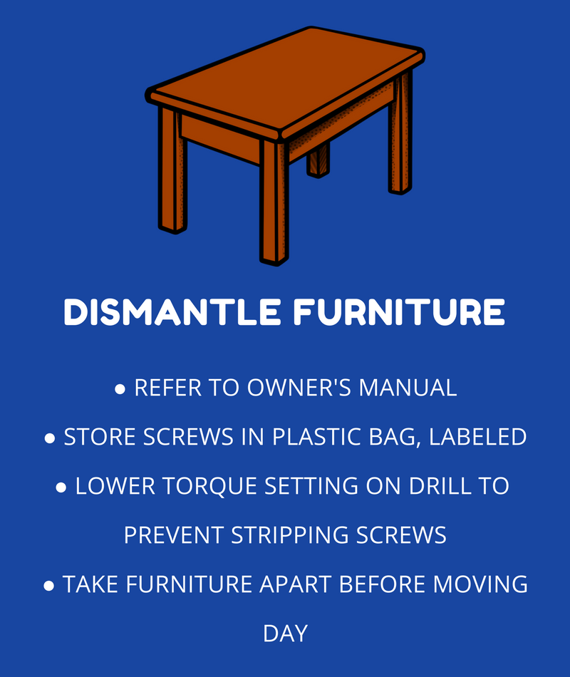 How to Dismantle Furniture for a Move