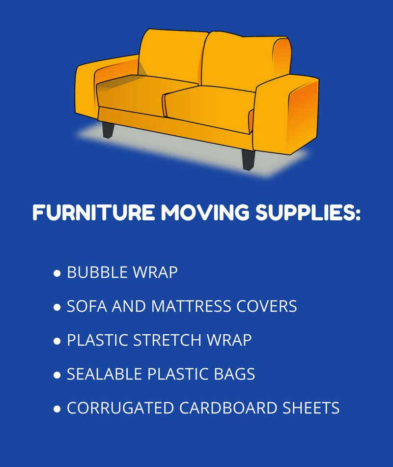 Supplies for moving furniture and other large items