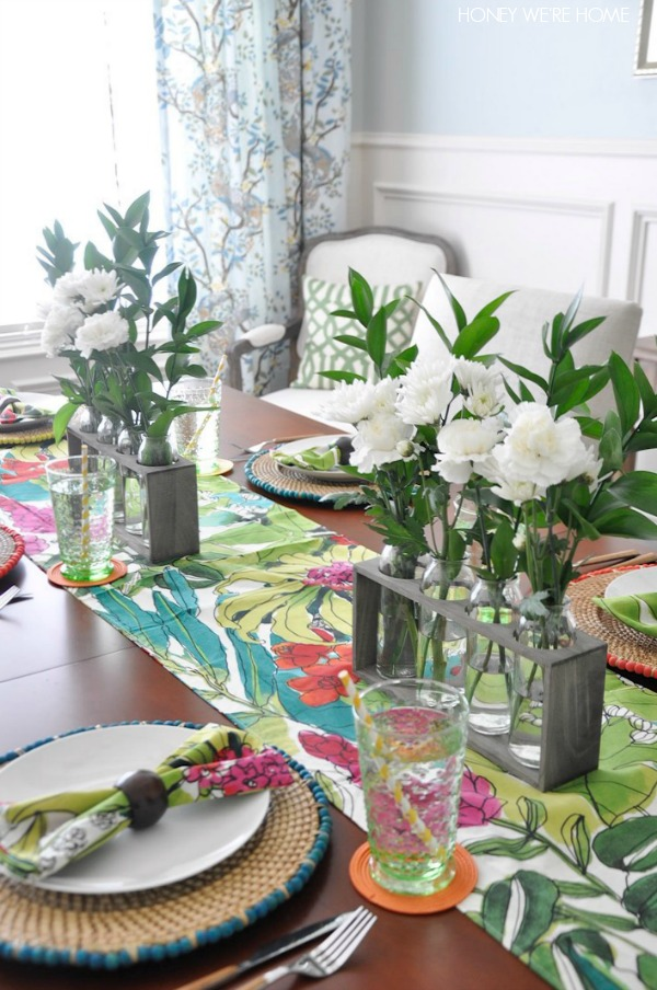 Spring Decorating Ideas Add Fresh Flowers To The Dining Room