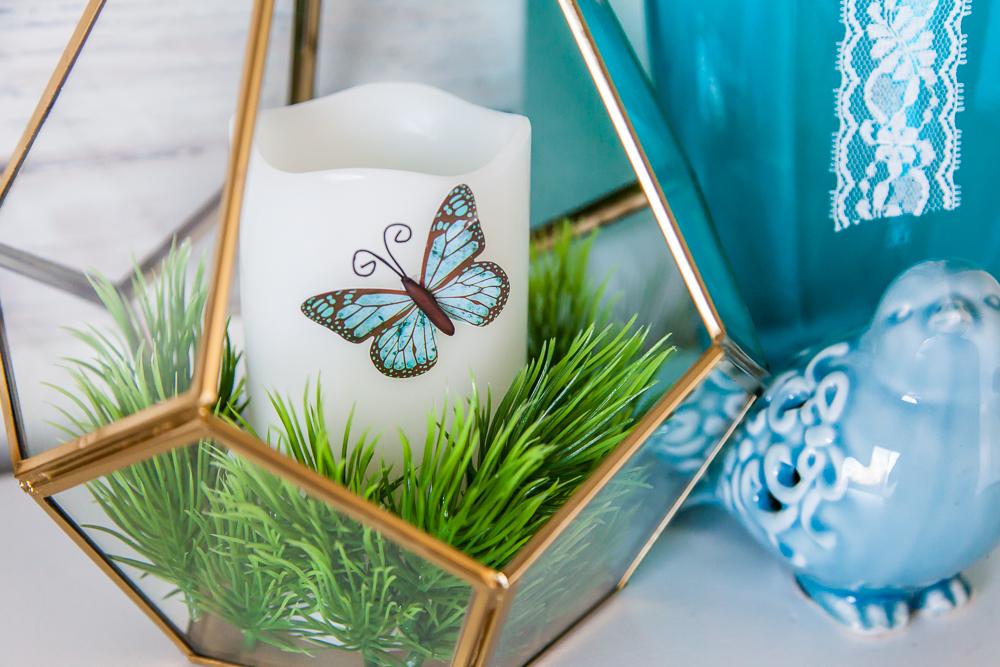 grass candle butterfly terrarium