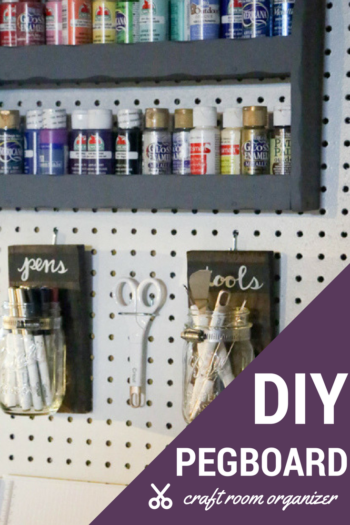 pin diy pegboard craft room organizer