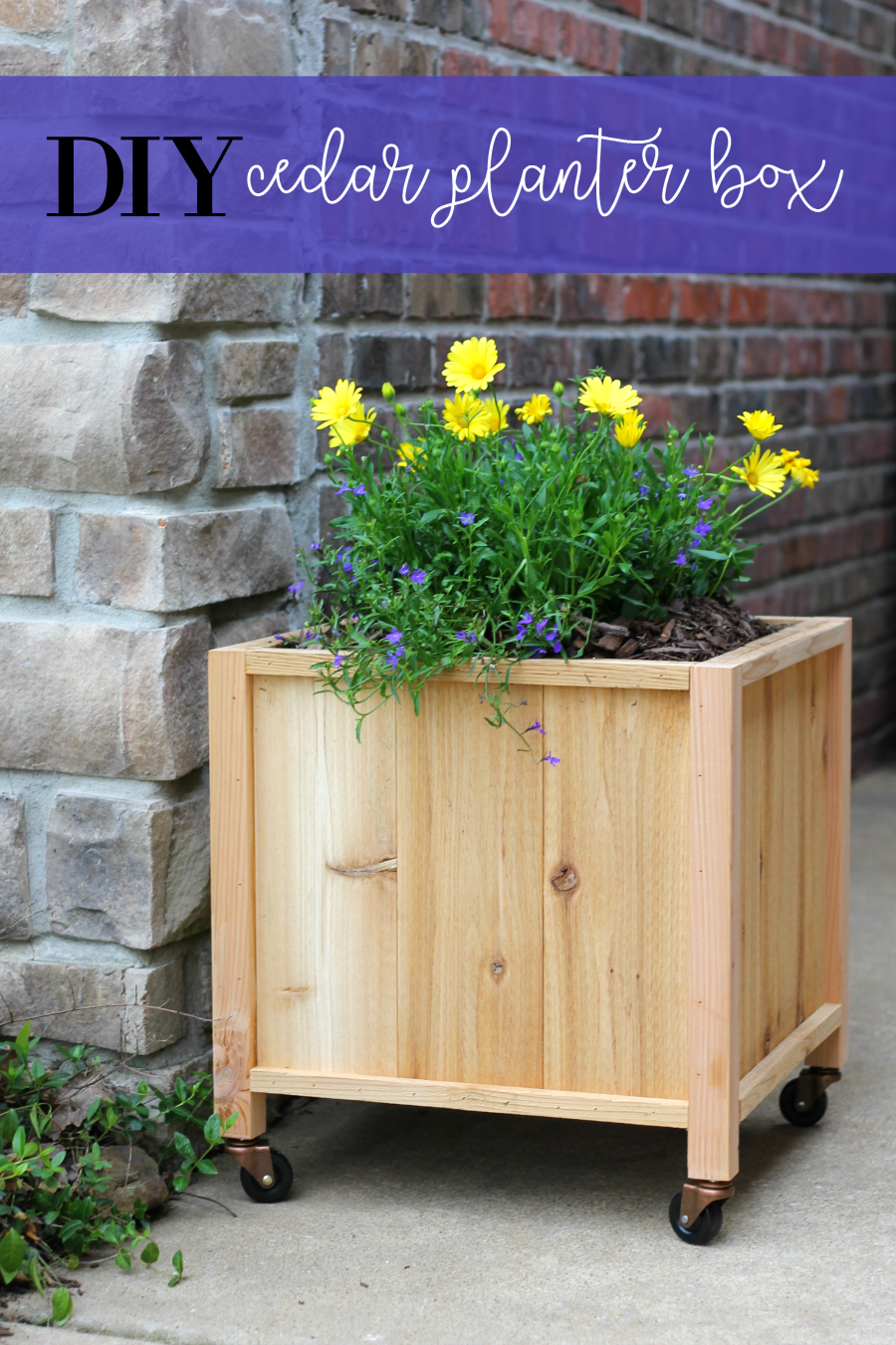 how to make a cedar planter box pin