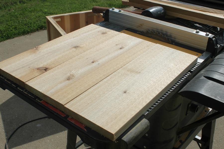 table saw 1x6 cedar wood