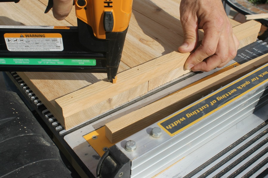 nail gun for wood projects trim cedar box