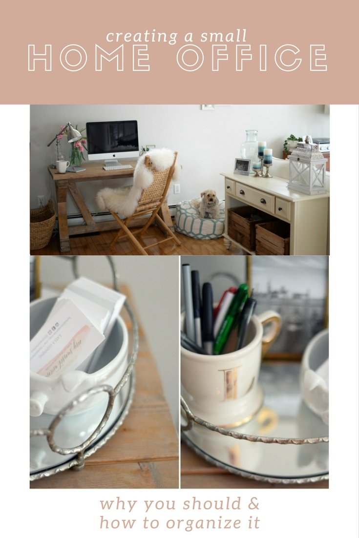creating the perfect home office why and how to organize it pin