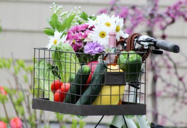 diy bike basket how to flowers cucumbers life storage blog