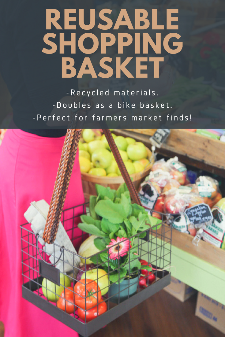 diy bike basket tutorial pin farmers market