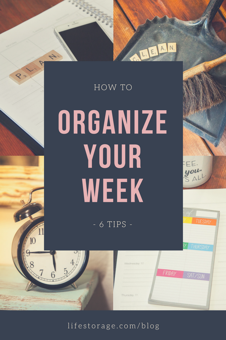 how to organize your life one week at a time pin