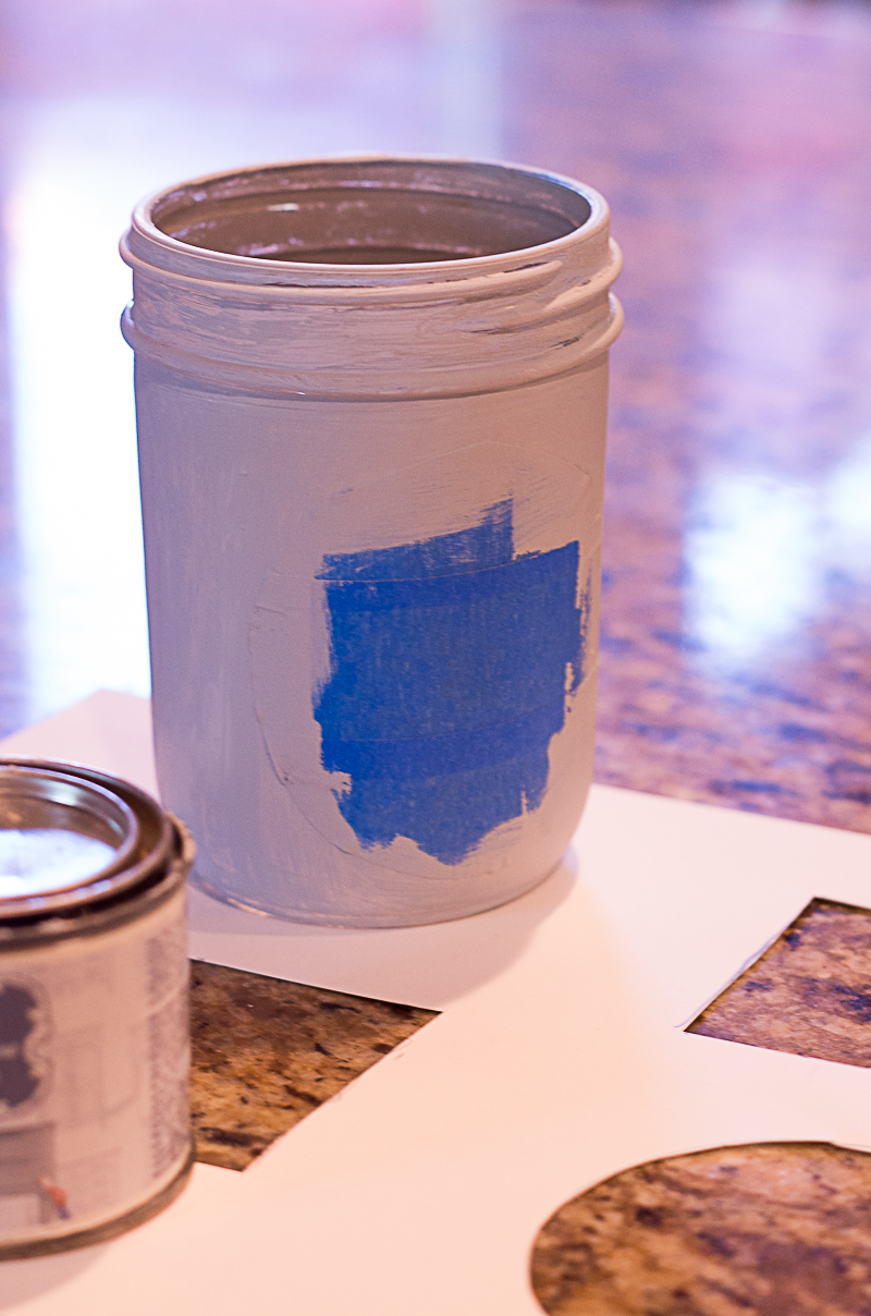 chalk paint mason jar vase