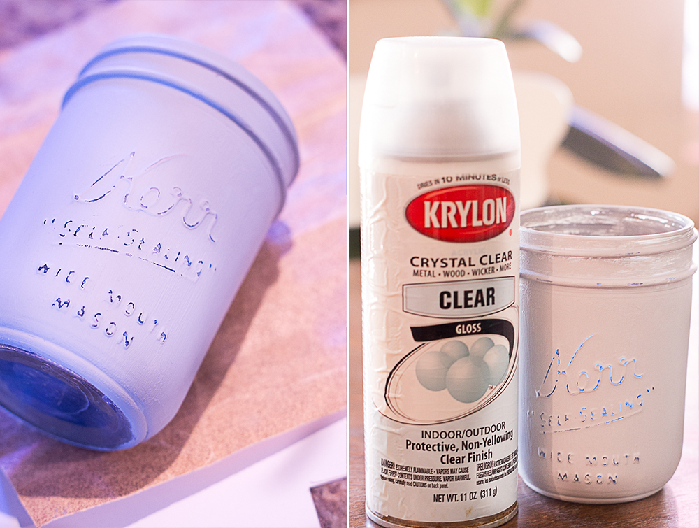 distressed mason jar vase chalk paint