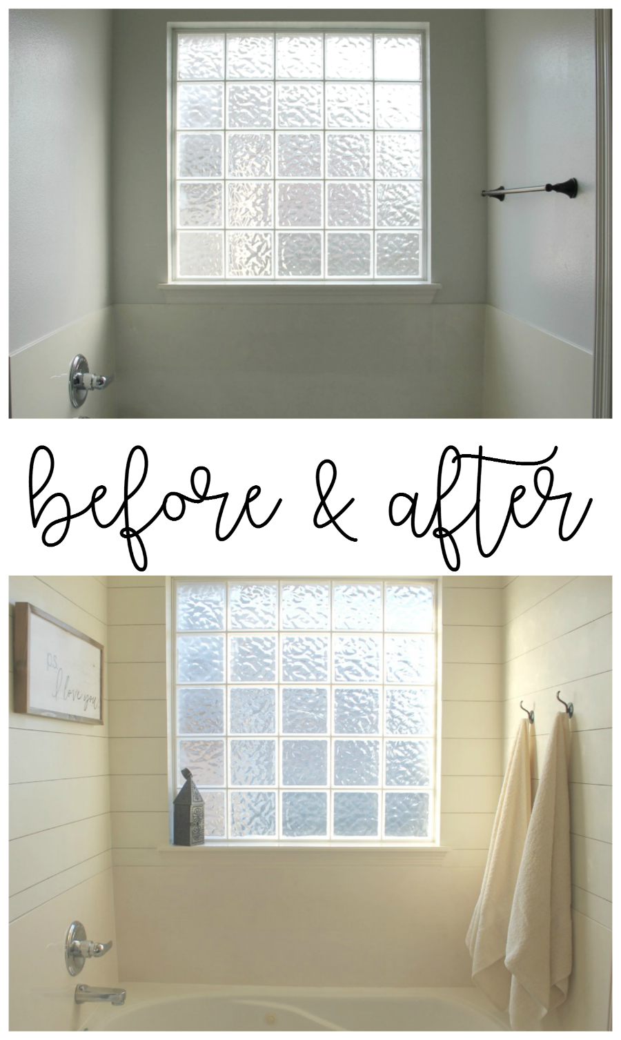 shiplap before & after