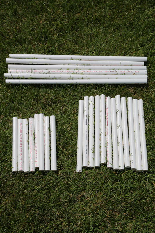 pvc pipe lawn game project tutorial cut to size