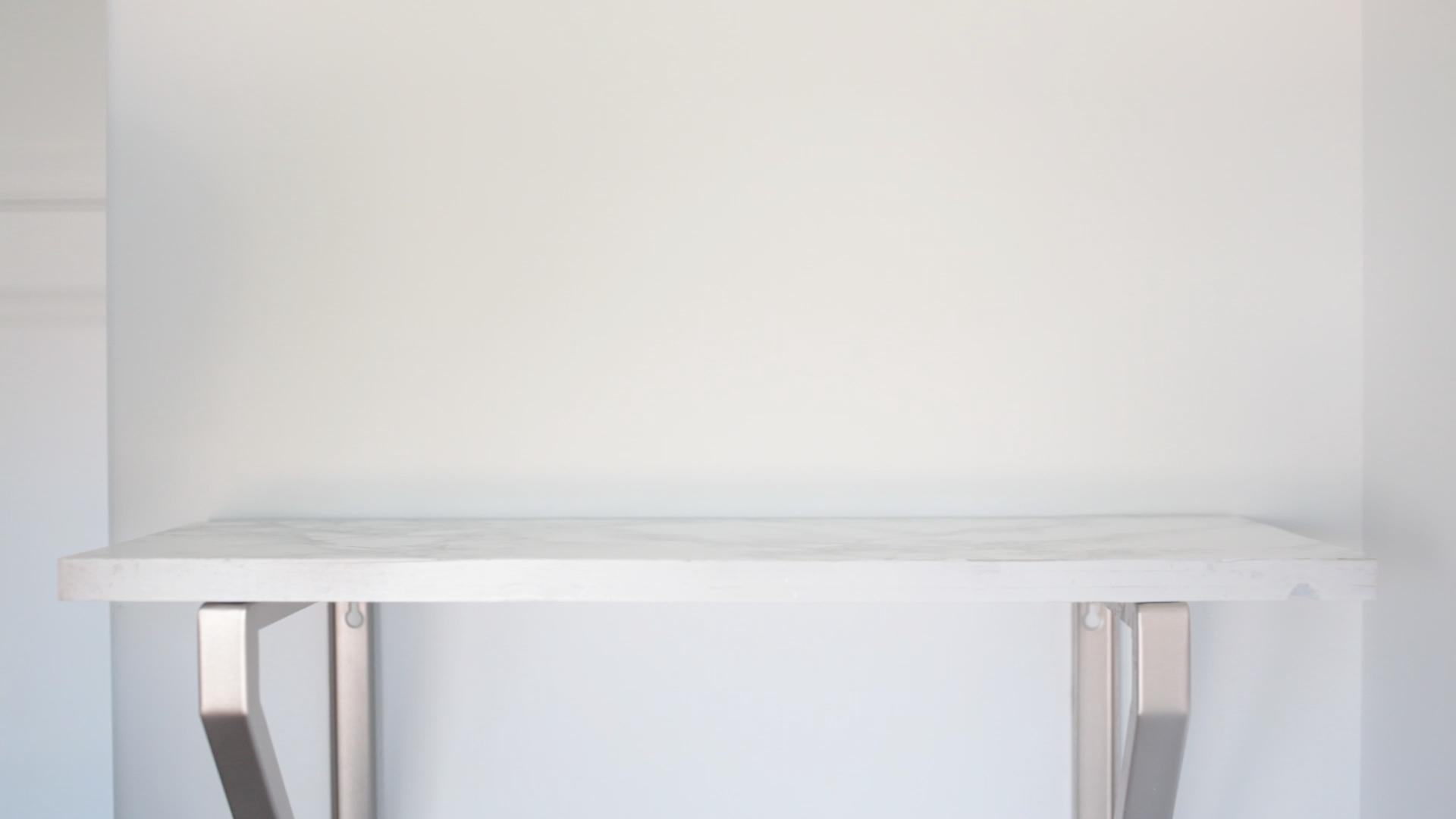 diy marble shelf tutorial mount on brackets