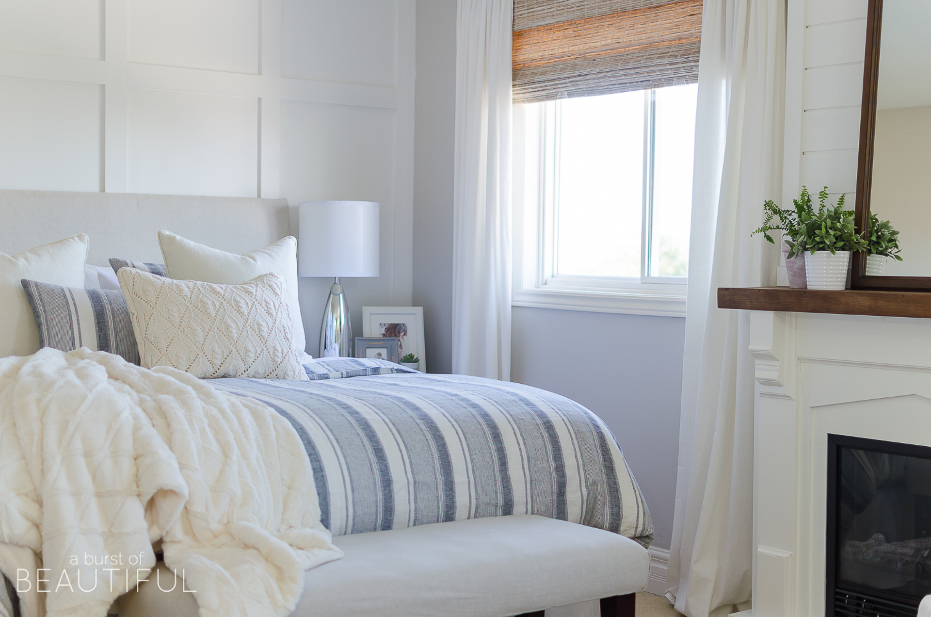 how to decorate a master bedroom - use the right window treatments