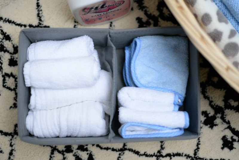 baby towels burp cloths drawer dividers organizers