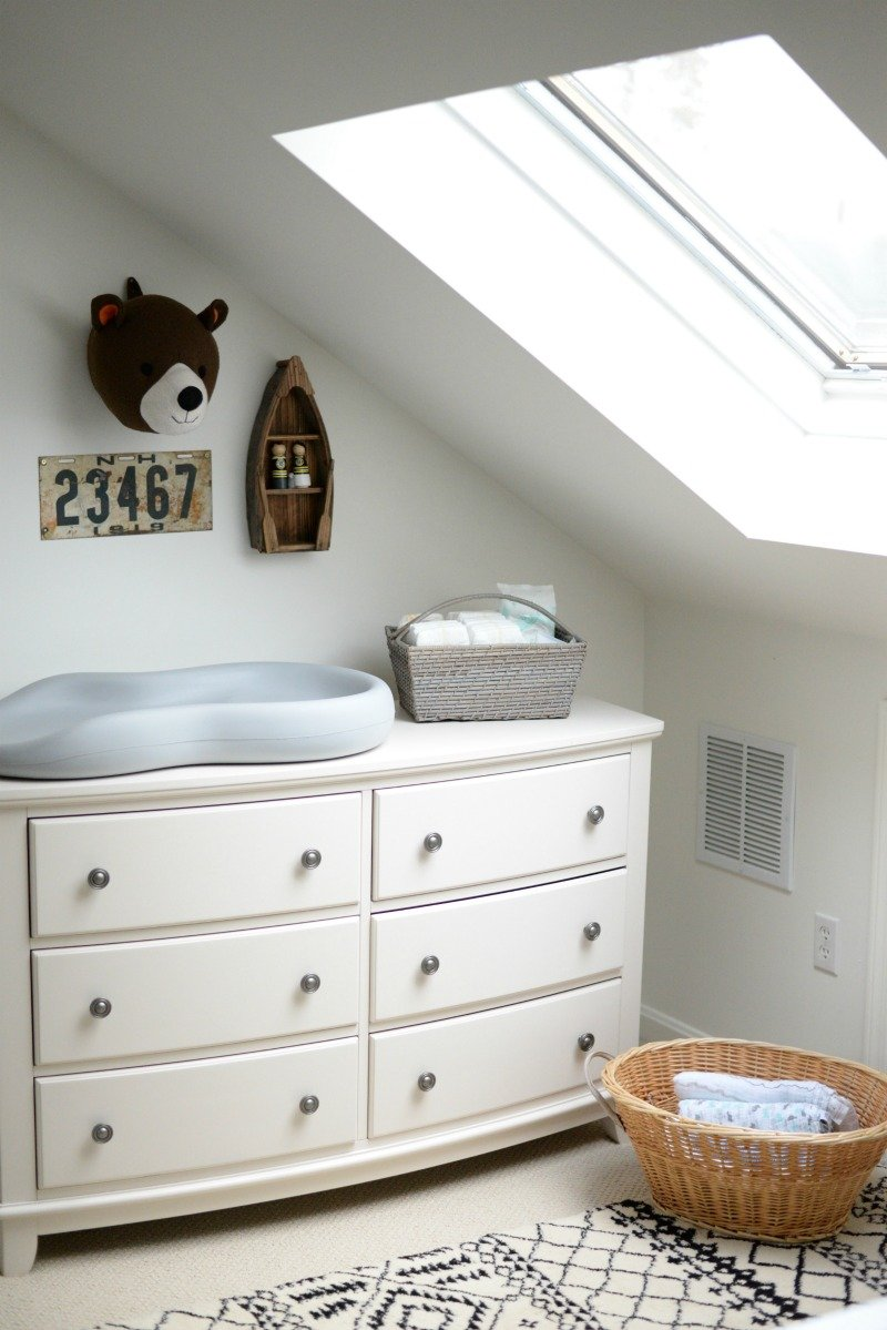 dresser baby nursery hamper changing table