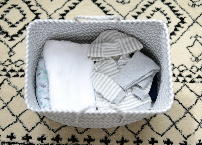 baby sweatshirt folded tote pattern carpet