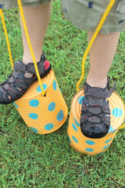 kid stilts DIY summer fun outdoor activity