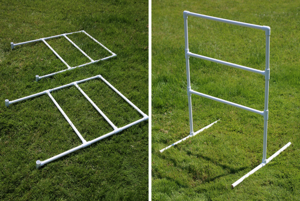 leg assembly diy ladder golf set how to